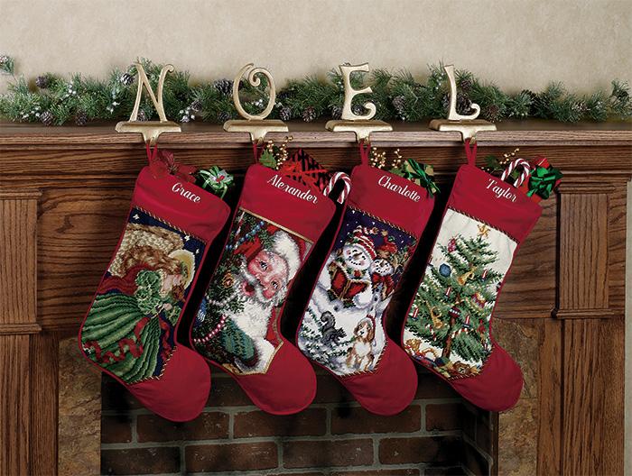 needlepoint christmas stockings | A Home Like No Other