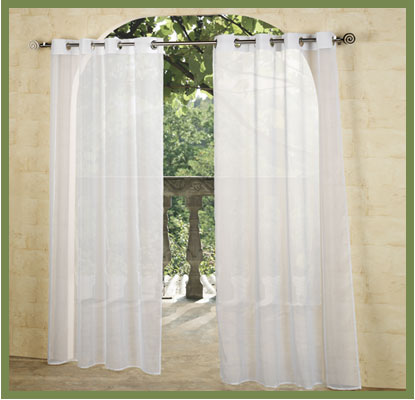 sheer curtains may provide adequate privacy but perhaps your idea of an outdoor paradise is more like a deserted island the tabtop matine outdoor curtain