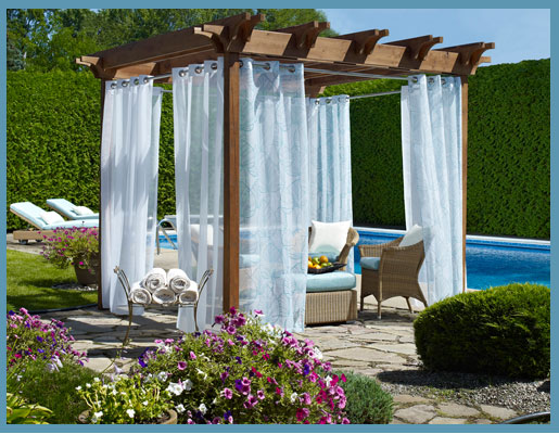 Sheer Curtains May Provide Adequate Privacy, But Perhaps Your Idea Of An  Outdoor Paradise Is More Like A Deserted Island? The Tab Top Matine Outdoor  Curtain ...