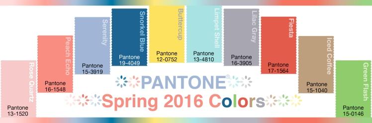 Pantone Spring 2016 Colors