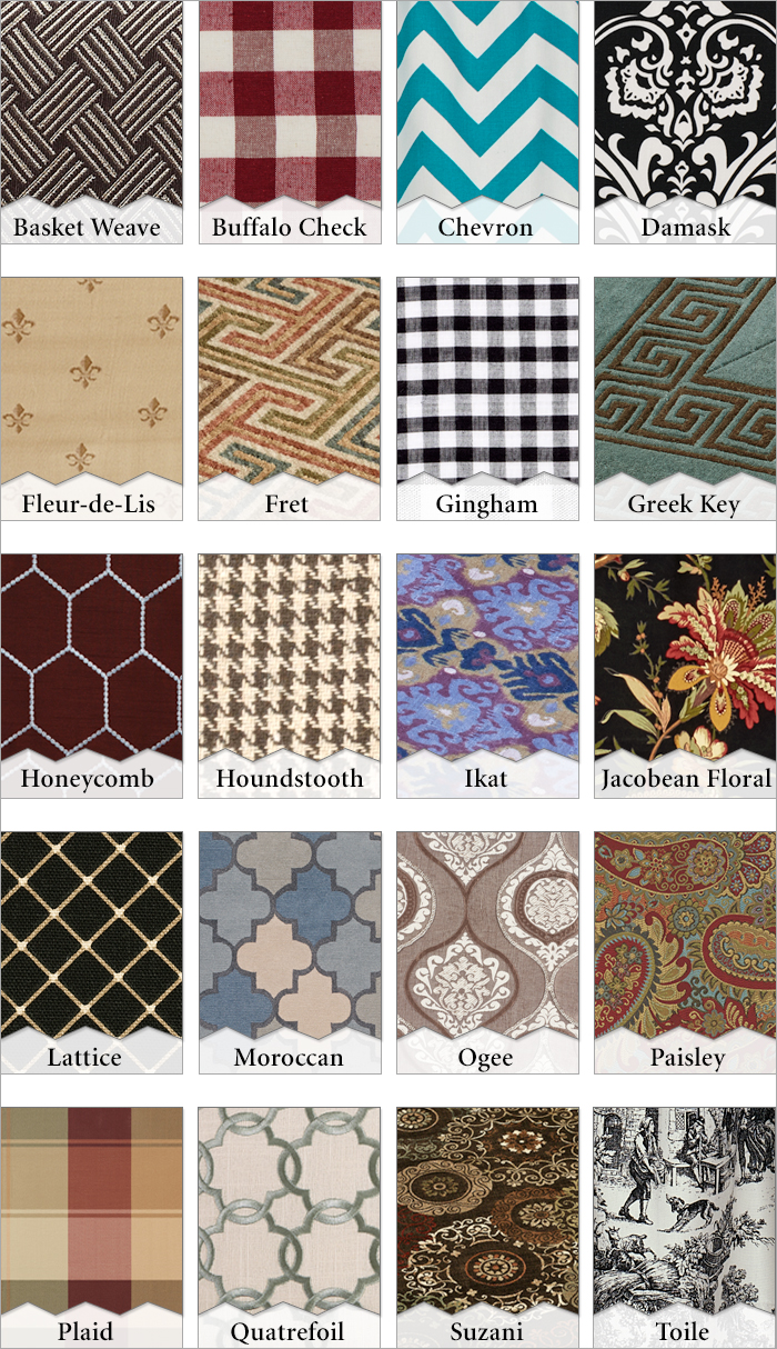 Learn Your Prints And Patterns Names And Descriptions For Home Decor Fabrics A Home Like No Other