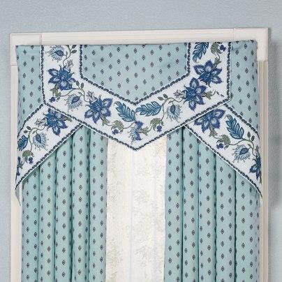 Chalet Bleu Cornice Valance Set