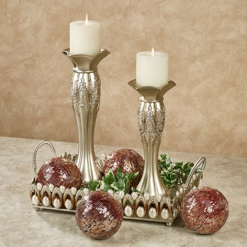 Orbs with Candleholders