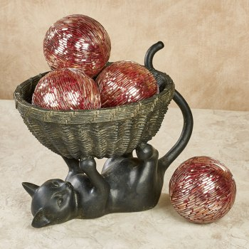 Decorative Orbs in Basket