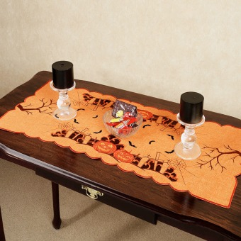 Orange Halloween Table Runner