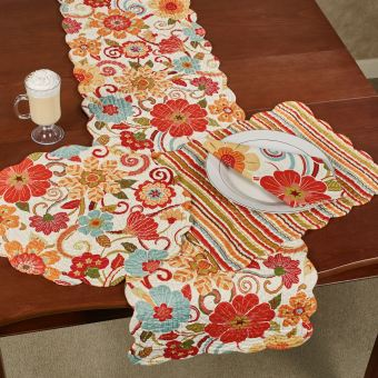 Giselle Bright Floral Table Linens