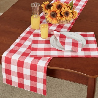 Red Buffalo Check Table Linens