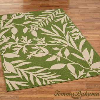 Cabana Leaves Peridot Green Rug