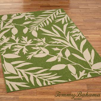 Cabana Leaves Peridot Green Rug