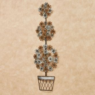 Floral Topiary Metal Wall Art