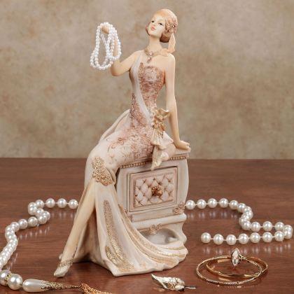 Elegant Lady Figurine with Jewelry Drawer