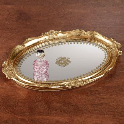 Adina Gold Mirrored Vanity Tray