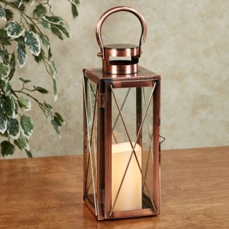Copper Metal LED Candleholder