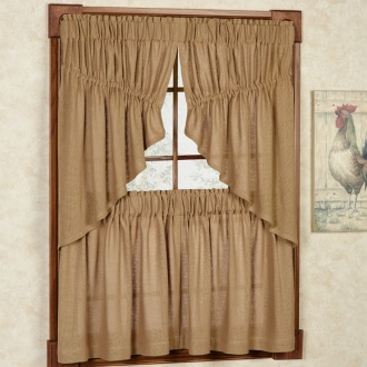 Burlap Tier Window Treatment