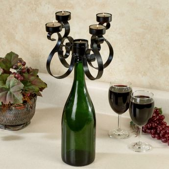 Wine Topper Candelabra with Tealight Candles