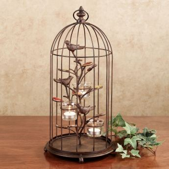 Songbird Decorative Birdcage Tealight Holder