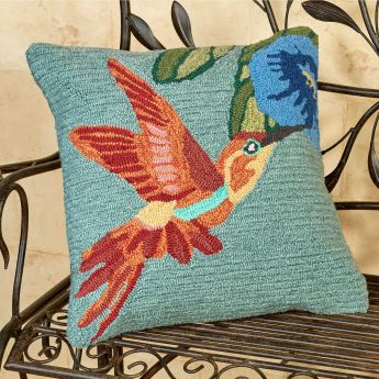 Hummingbird Sky Decorative Pillow
