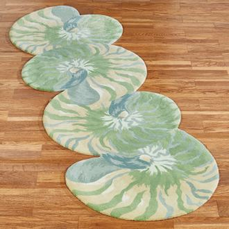 Clearwater Nautilus Shell Rug Runner