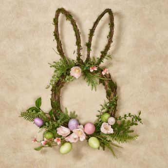 Floral Bunny Easter Egg Wreath