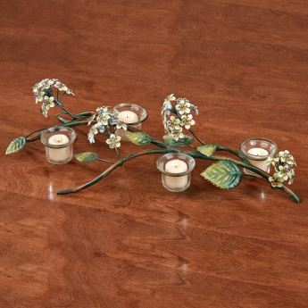 Spring Romance Tabletop Candelabra with Tealight Candles