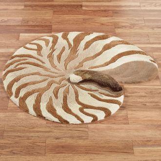 Chambered Nautilus Seashell Rug