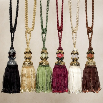 Beaded Tassel Curtain Tiebacks