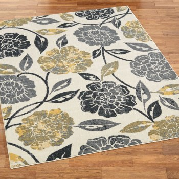 Grand Marigold Gray and Yellow Rug