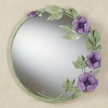 Les Fleurs Mulberry Rose Wall Mirror