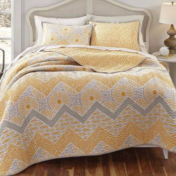 Sunnyside Gray and Yellow Bedding