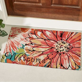 Charmed Floral Welcome Mat