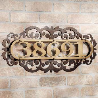 LaRoyal House Number Address Plaque