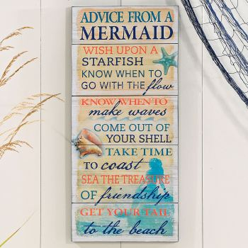 Mermaid Advice Wall Plaque