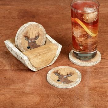 Deer Head Drink Coaster Set