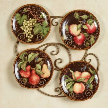 Capri Fruit Dessert Plate Set