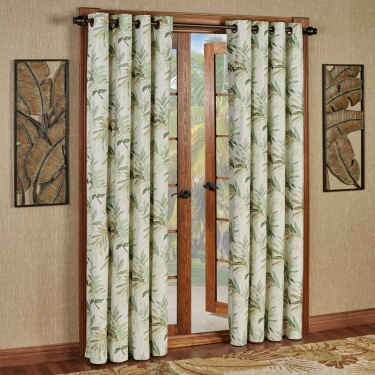 Paradise Leaf Grommet Curtain Panels