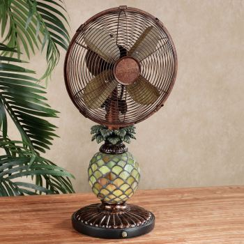 Mosaic Pineapple Table Fan