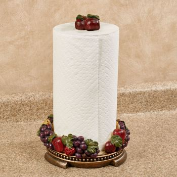 Tuscan Fruit Paper Towel Holder