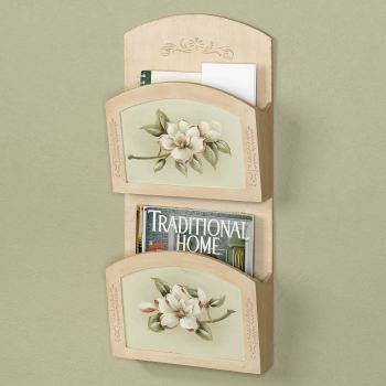 Magnolia Blooms Wall Organizer