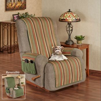 Riverpark Striped Reversible Furniture Cover