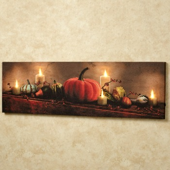 Harvest Display LED Lighted Canvas Wall Art for Autumn