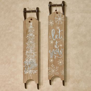 Sled Lighted Wall Art Set