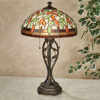 Darent Fall Stained Glass Table Lamp
