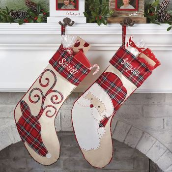 Holiday Tartan Plaid Stockings