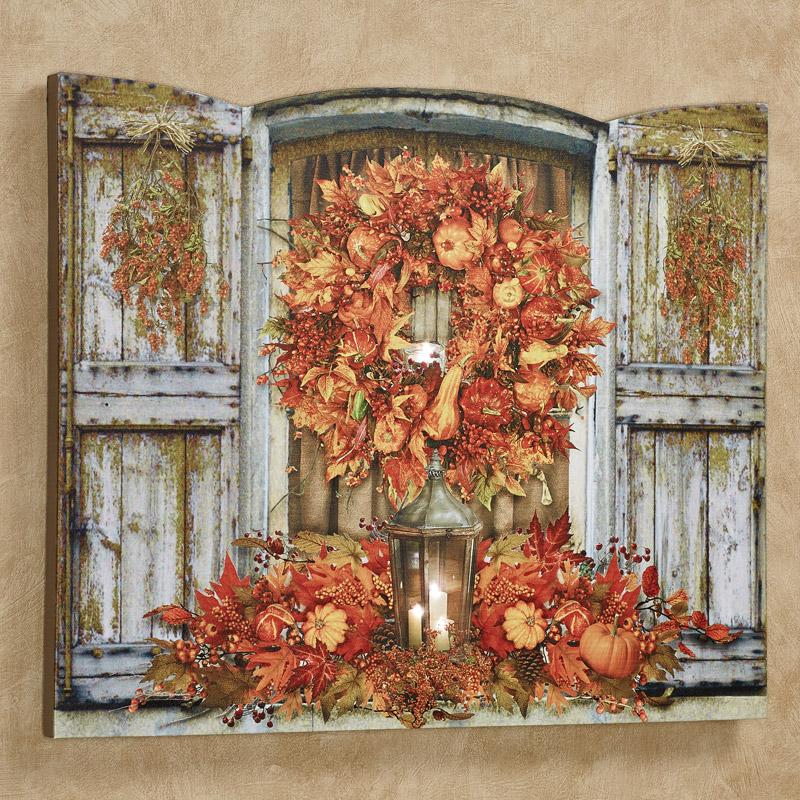 Led Lighted Canvas Wall Art For Fall A Home Like No Other