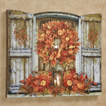 Harvest Welcome LED Lighted Canvas Wall Art for Fall