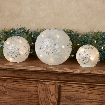 Snowflake Frosted Globes
