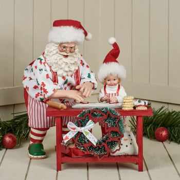 Homemade Cookies Clothtique Santa Figurine