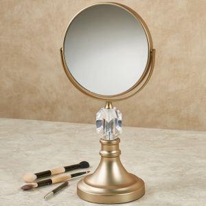 Crystal Magnifying Vanity Mirror