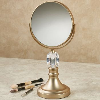 Crystal Magnifying Vanity Mirror