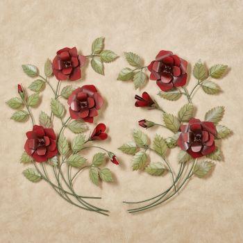 Red Rose Metal Wall Art